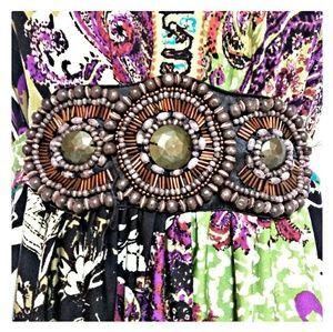 Dresses - *SALE* Boho Beaded Accent Halter Look Dress  Small